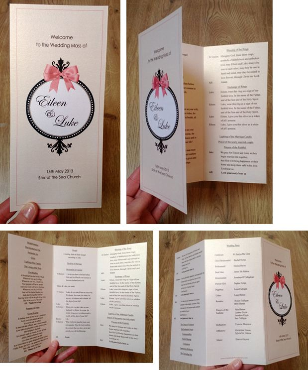 Wedding Ceremony booklet. Mass Booklet