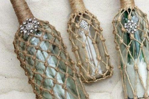 Garrafa de Vidro Decorada com Juta Passo a Passo   Reciclagem no Meio Ambiente