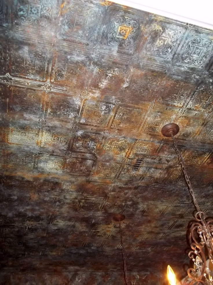 Aged Tin Ceiling Wallpaper Amp Metal Paint More Than