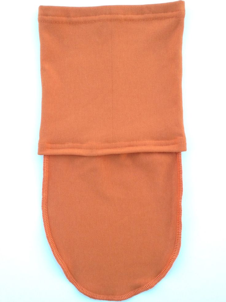 fleece bamboo neck warmer soft stretchy warm covers chest orange made in Edmonton Canada comfortable breathable moisture wicking  for kids etical wear eco friendly House of Koopslie