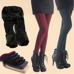 RM47 for 2-Pack Fleece Lined Multi-Colour Leggings | DrGrab Malaysia