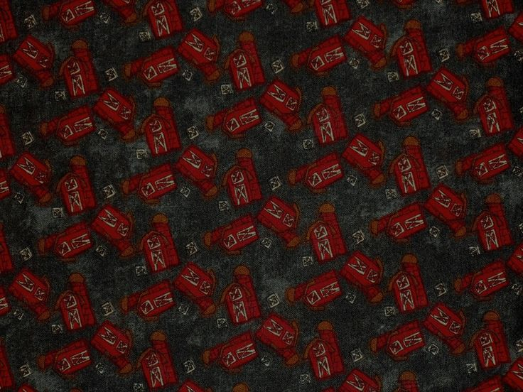 1YD TINY RED BARNS Pieces From My Heart Sandy Gervais Moda Country Farm Fabric #Moda