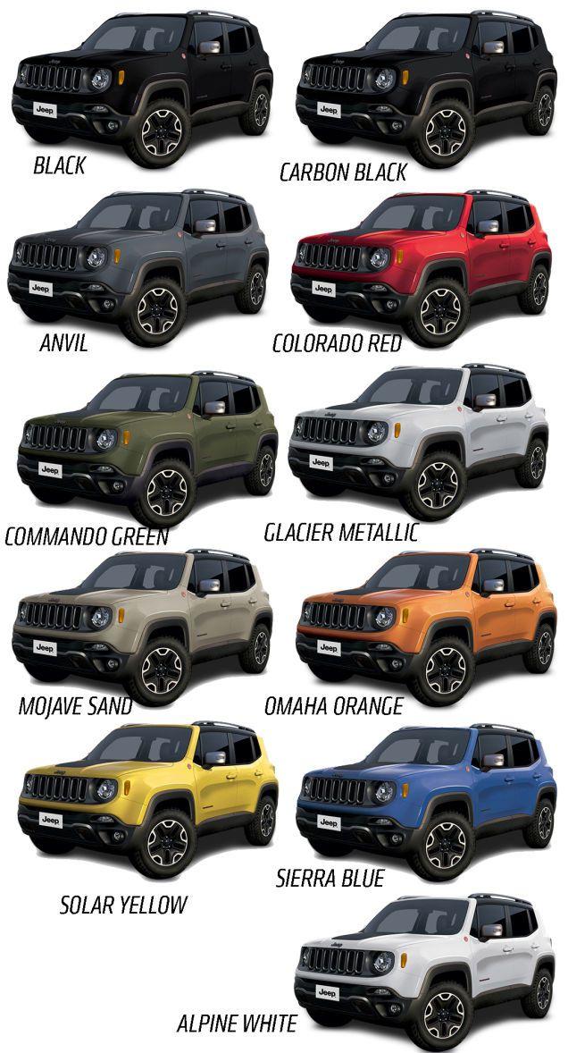 Unique Jeep Renegade Colors 2017