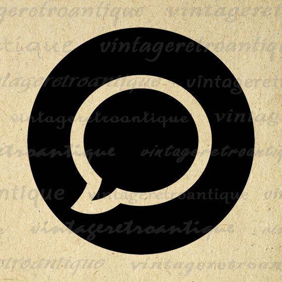 Talk Bubble Printable Graphic Download Speech Balloon Image