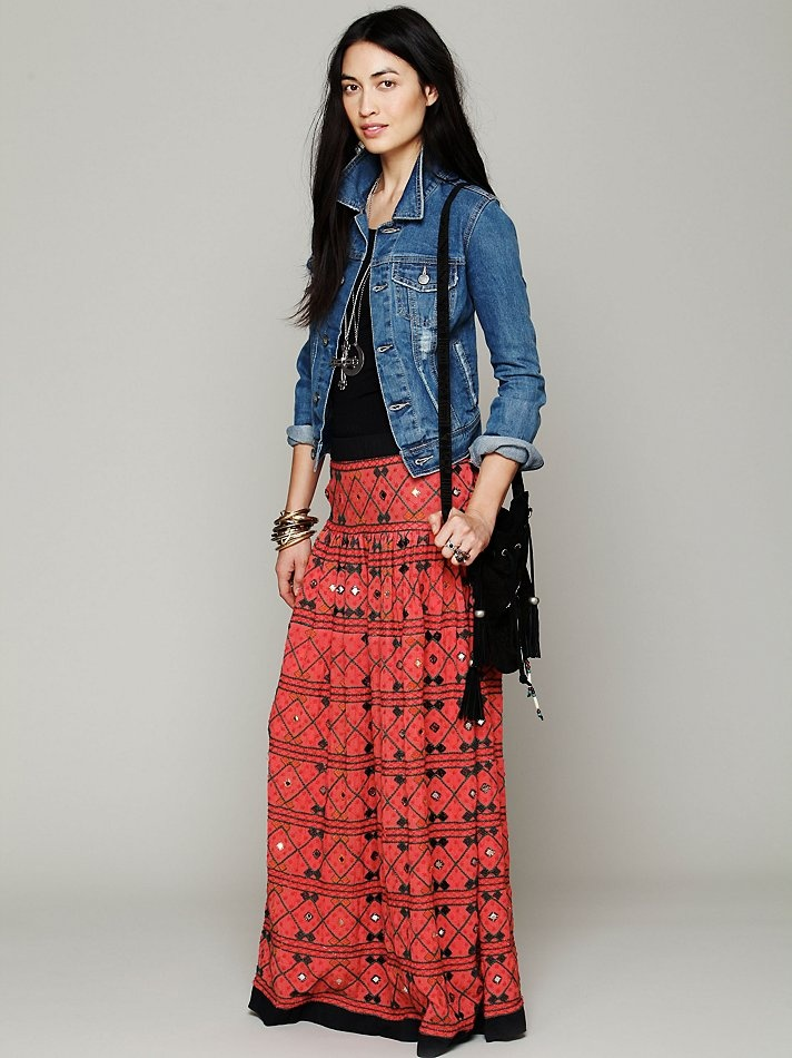 skirt denim jacket