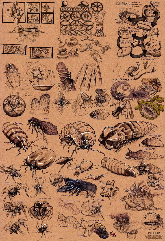 Dynamic Sketching Compilation - Organic Stuff by Tsylore