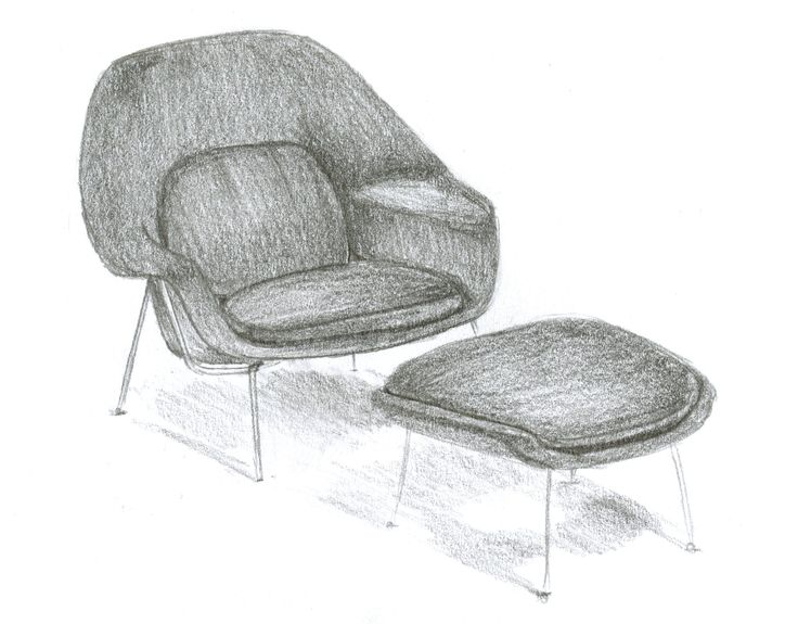Chair Sketches  Womb ChairSketches167 best SPF D sir e Saarinen Womb chair 1948 images on Pinterest  . Eames Wicker Womb Chair. Home Design Ideas