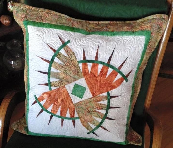 Rocky Mountain Bear Claw Pillow, Quiltworx.com, Made by CI Julie Faulkner