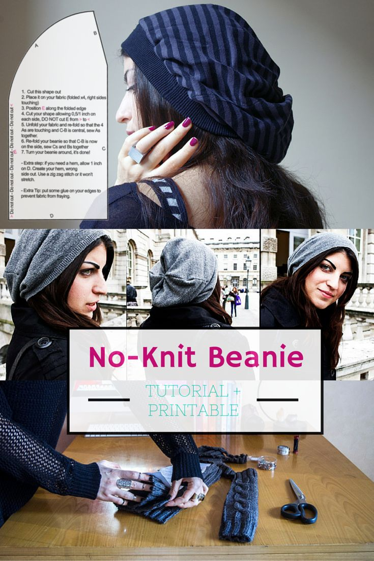 Print, cut, pin and sew. Slouchy beanie hats made easy just for you…