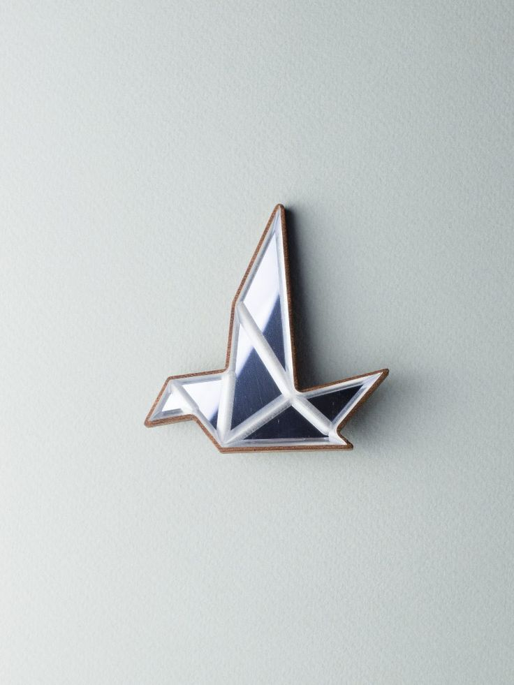 Mirror Bird Brooch - Carla Szabo #jewelry #design #brooch