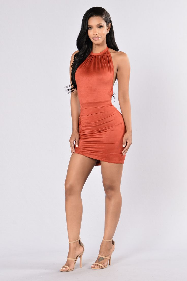 Get outta your mind dress rust dresses fashion
