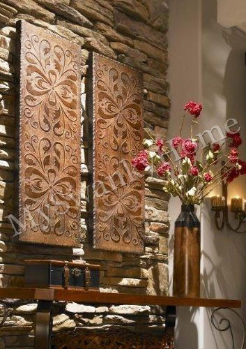 Copper Metal Wall Art Embossed Panels Living Room Dining Or Staircase