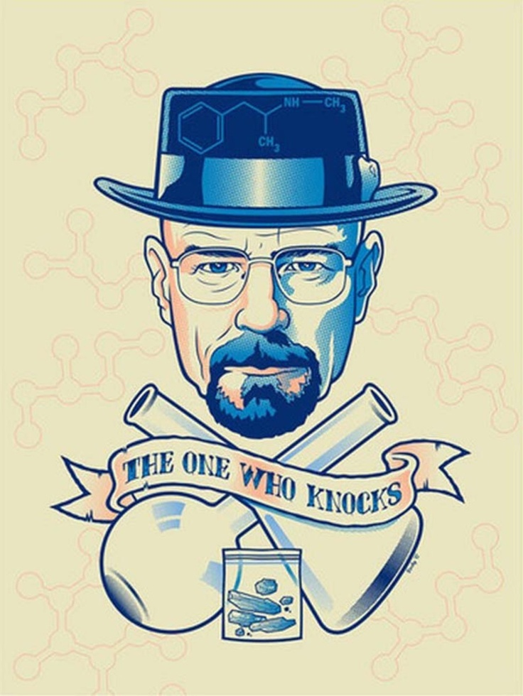 "Fankunst zur Kultserie ""Breaking Bad""  Credit: Scott Derby / Gallery 1988"