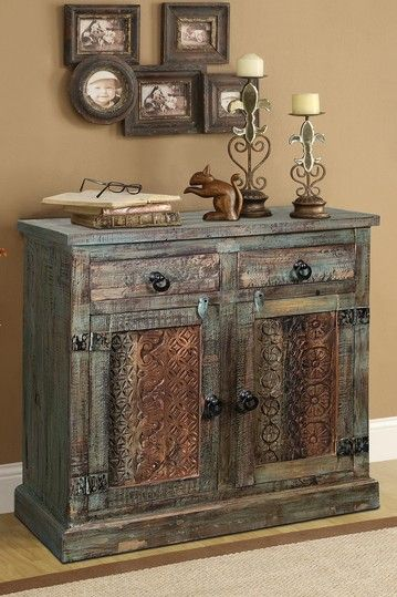 Reclaimed Wood Carved Cabinet - Brown by Furniture Deals For Every Style on @HauteLook