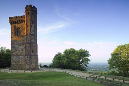 Leith Hill Tower, Surrey, an eighteenth-century Gothic tower built on the summit of the highest point in South East England
