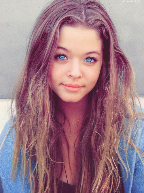 Pics For Gt Blue Eyes Brown Hair Girl Tumblr Beaty For
