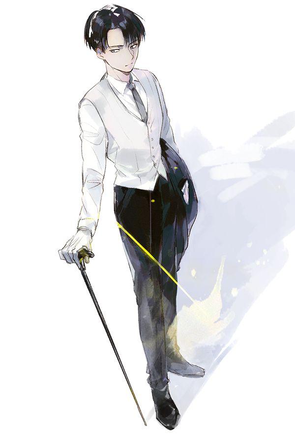 Tags: Anime, Cane, Stick, Chacall, Shingeki no Kyojin, Rivaille
