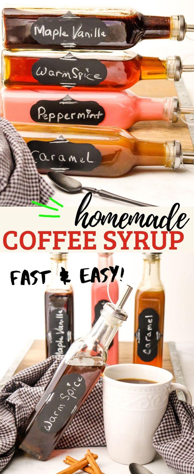 Homemade coffee syrup recipe homemade coffee syrup