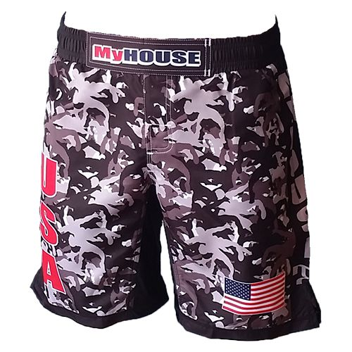 MyHouse USA Wrestler Camo Shorts Night is an awesome Wrestling Shorts for the champion fighter. MyHOUSE is one of the leading seller of custom #Wrestling apparels and products in the USA.