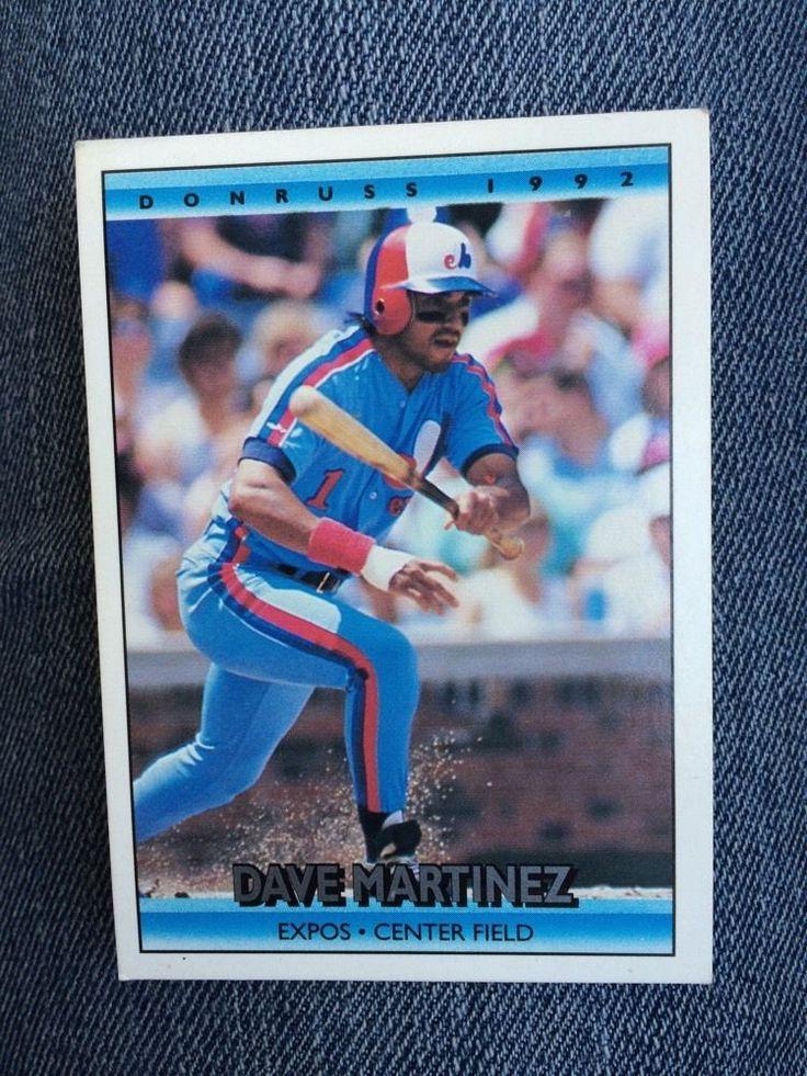 1991 dave martinez baseball card donruss 1992 732