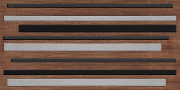 Panel veneered screen. American walnut and fabrics