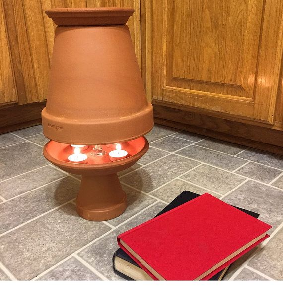 This Clay Pot Heater Is A Decorative And Natural Way To