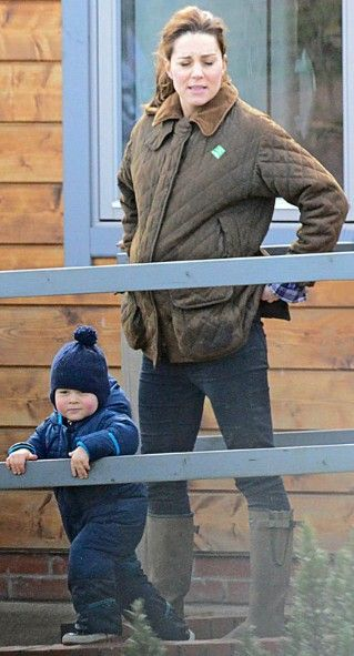 April 2015 Kate Takes George To Snettisham Park In Norfolk