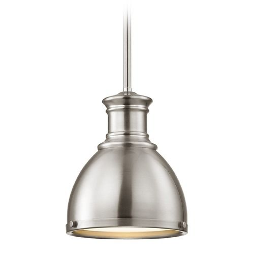 The 25 best metal pendant lights ideas on pinterest pendant 5995 farmhouse satin nickel metal pendant light 738 inch wide at destination lighting mozeypictures Image collections