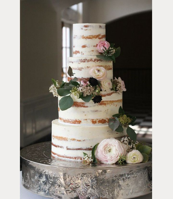 10 Sensational Semi-Naked Wedding Cakes - Mon Cheri Bridals