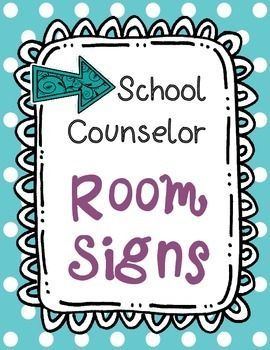 Counseling Office Signs Teal Dots -- 50% off for 48 hours