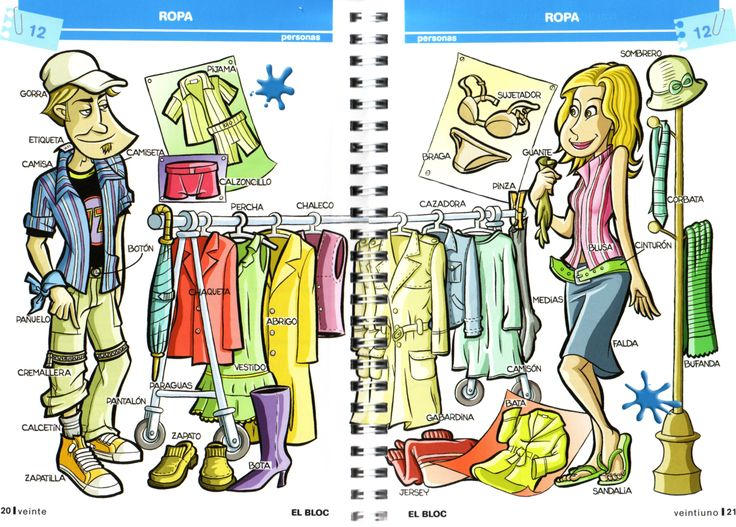 Tarea Paralela - Profe Le: voc/ Ropas Boys and girls clothing