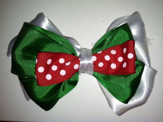 Girls Christmas Hair Bow For Sale $4