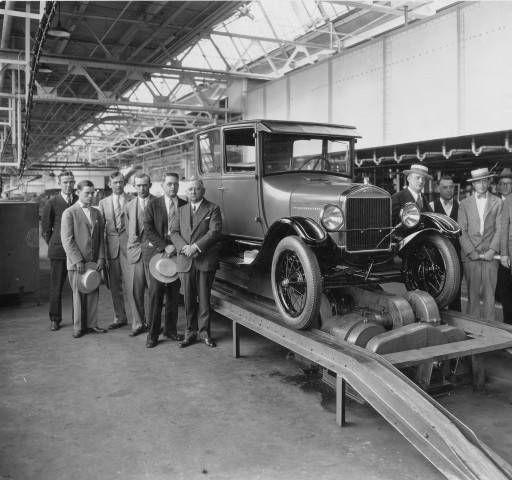 Vintage Car Models Last Model T Ford Leaves Assembly Line