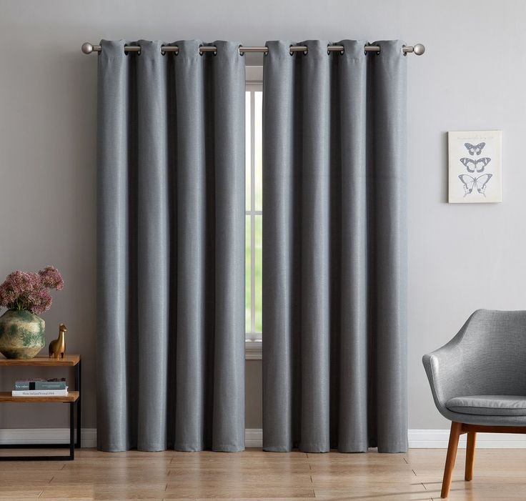Warm Home Designs 1 Panel of Extra-Thick Premium Grey Insulated Thermal Blackout Curtains