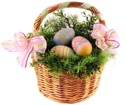 290 best easter baskets images on pinterest burlap cast on easter basket negle Choice Image