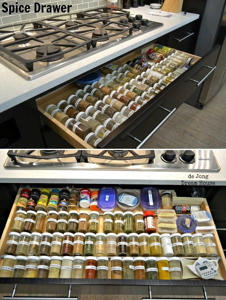 Top 10 Awesome DIY Kitchen Organization Ideas great idea if u dont have an oven under ur stove