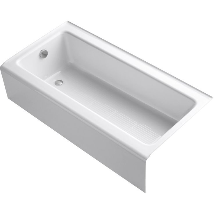 Possible tub?   KOHLER Bellwether White Cast Iron Rectangular Alcove Bathtub with Left-Hand Drain (Common: 30-in x 60-in; Actual: 14.5-in x 30.25-in x 60-in)