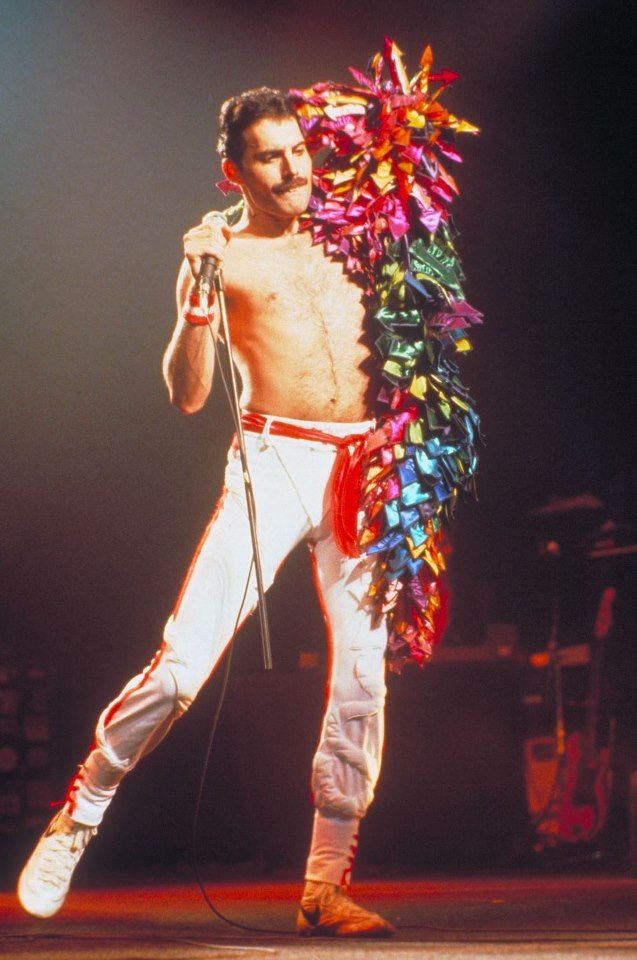 """FREDDIE MERCURY  performed an estimated 700 concerts in countries around the world with Queen.  He wrote """"Bohemian Rhapsody"""", one of his biggest hits ever which comprises dozens of chords.  He wrote most of his songs on the piano and used a wide variety of different key signatures."""