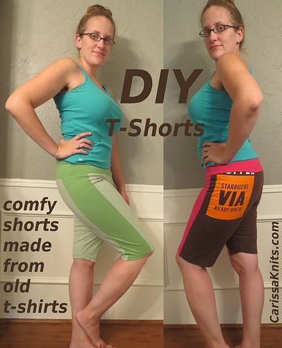 Sewing Upcycle: DIY T-Shorts Refashion by CarissaKnits