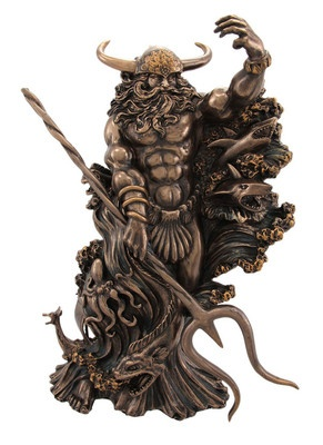 Aegir Norse Sea God Statue Mythology Viking