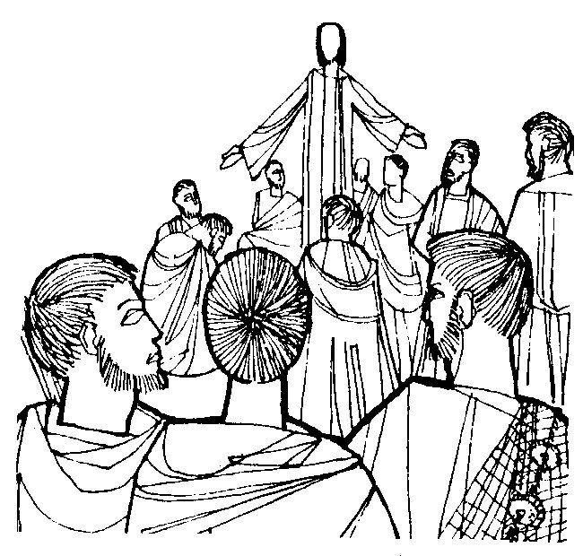 Christelijke Clipart Jezus Spreekt De Mensen Toe