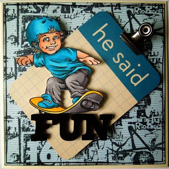 Card for boys. DT PhunnyFace #cards #cardsforboys