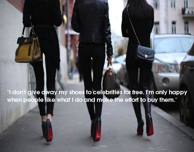 3 women christian louboutin shoes louis vuitton speedy bag chanel ...