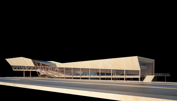 Somado à extensão da fachada, o desenho da unidade facilita a percepção na via de trânsito rápido