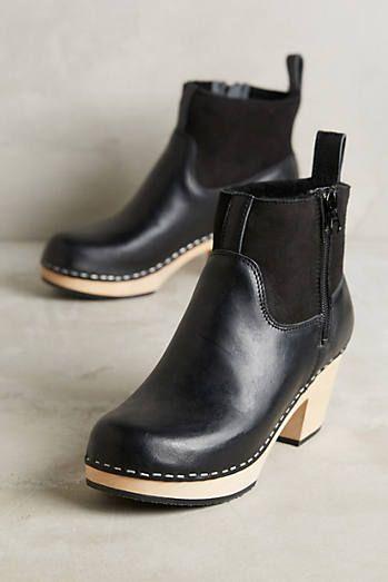 Swedish Hasbeens Cozy Platform Clog Boots