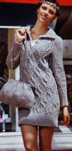 Sporty Styled Cable Dress Knit - Knitting Kingdom