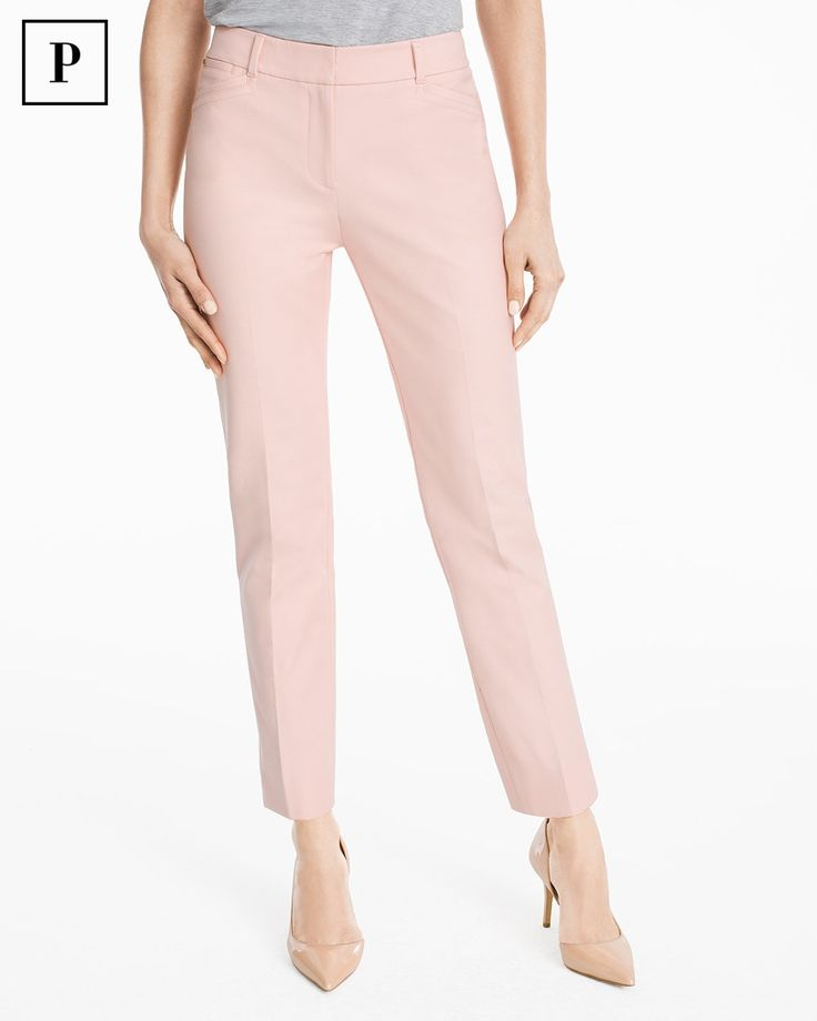 Petite Body-Defining Ankle-Grazing Pants