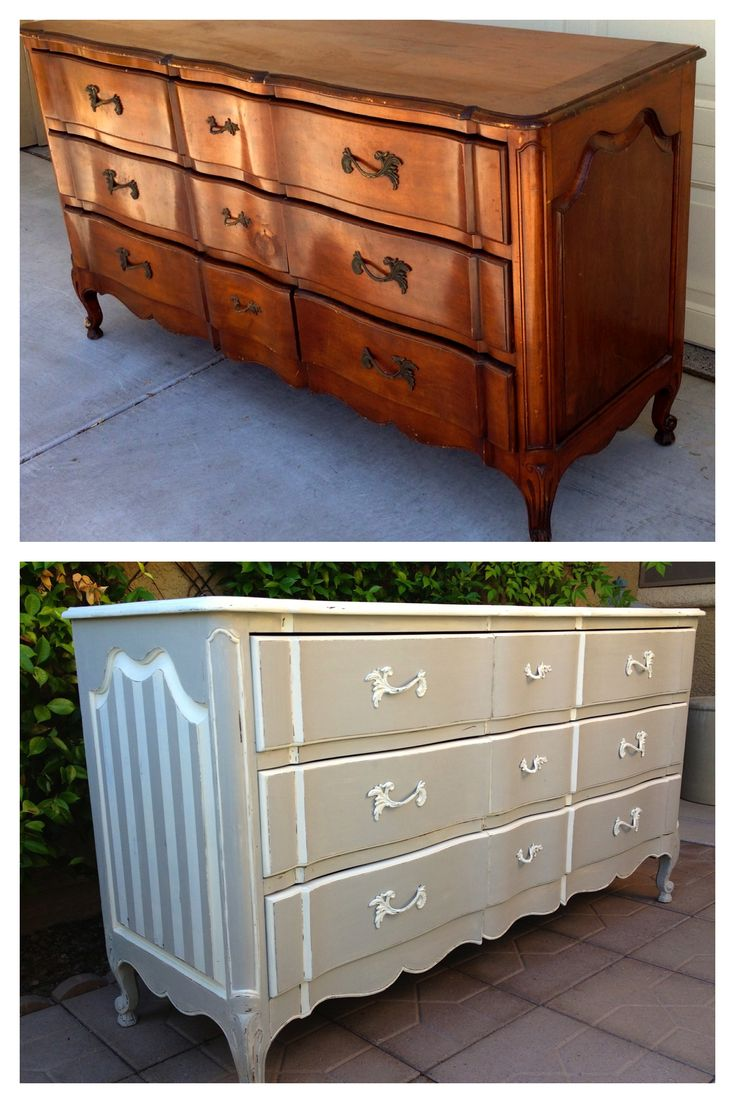 195 best images about our furniture make overs on pinterest vintage dressers 5 drawer dresser - Before and after old dressers makeover with a little paint ...