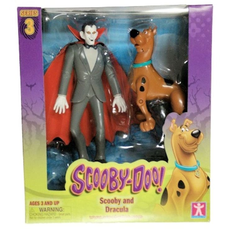 Scooby Doo Series 3 Scooby and Dracula Action Figures #ScoobyDoo