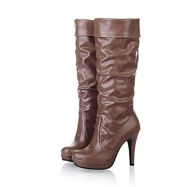 Women's Shoes Round Toe Stiletto Heel Knee-high Boots More Colors Available – EUR € 34.54